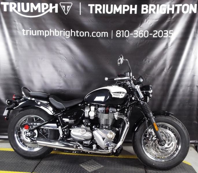 2018 Triumph Bonneville Speedmaster Fusion White and Phantom Black
