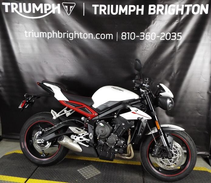 2018 Triumph Street Triple R Crystal White Metallic