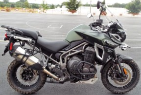 2017 Triumph Tiger Explorer XCA Matt Khaki Green