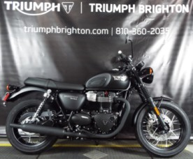 2019 Triumph T100 Black 900cc - Matt Jet Black