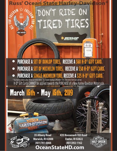 Don't Ride on Tired Tires.  Tire Promotion.