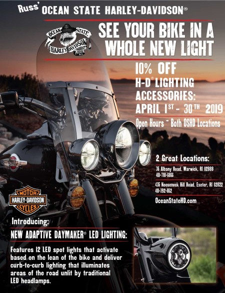 10% Off H-D® Lighting Accessories in April