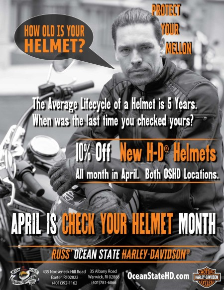 Check Your Helmet:  10% Off H-D Helmets in April