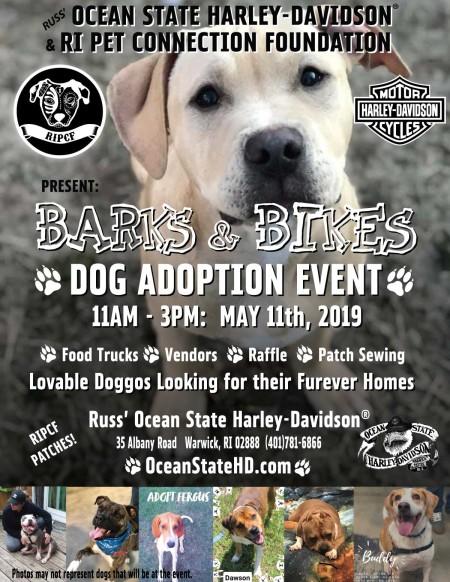 Barks & Bikes: Dog Adoption Event