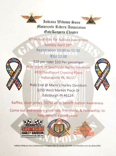 6th Annual Ride for Autism Awareness STARTS HERE