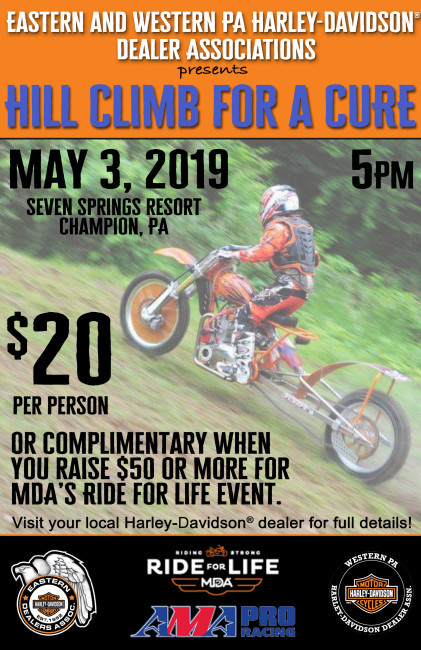 MDA Ride For Life - Including Hill Climb