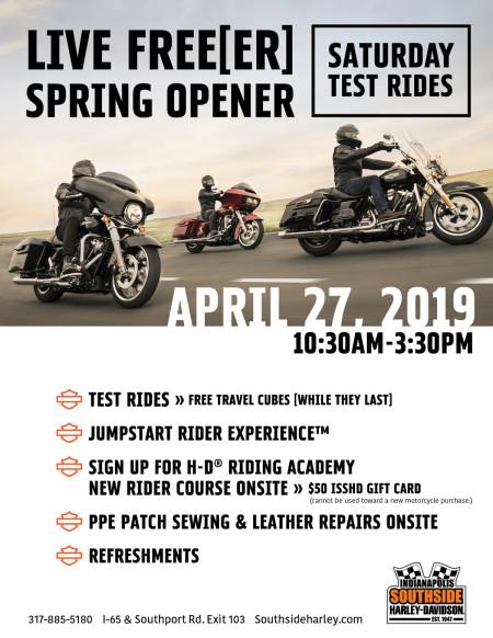 Live Free[er] Spring Opener Saturday Test Rides | Southside H-D