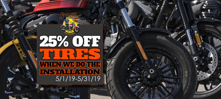 25% OFF TIRES WHEN WE DO THE INSTALLATION