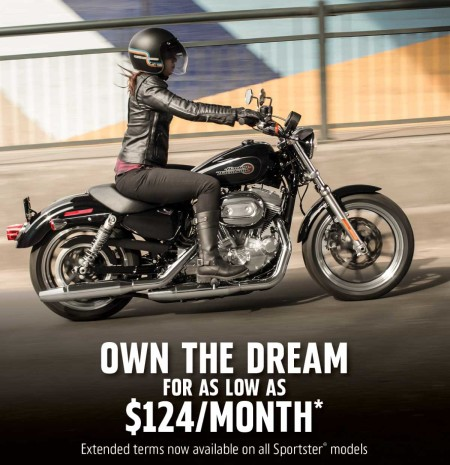 Extended Terms Available on Sportster® Motorcycles
