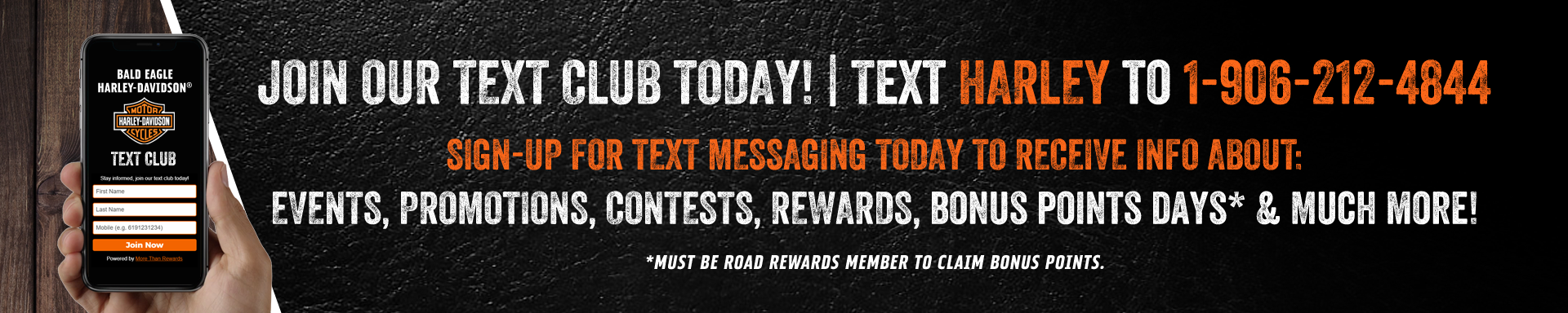 Join Our Text Club and Get Instant Event Updates