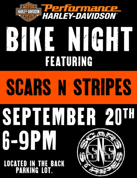 Bike Night at PHD featuring Scars 'N Stripes