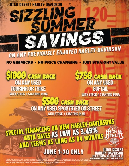 Sizzling Summer Savings with the sales dept.
