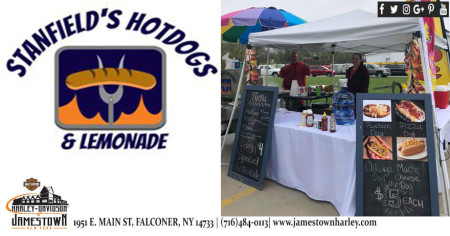 Lunch on Mondays with Stanfield's Hotdogs & Lemonade