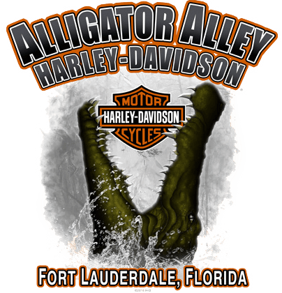 Alligator Alley Harley-Davidson<sup>®</sup> logo
