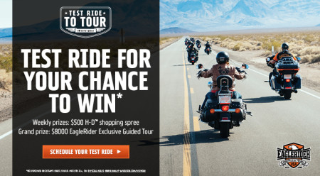 TEST RIDE TO YOUR SWEEPSTAKES