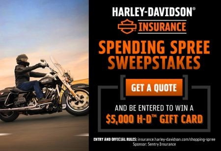 H-D INSURANCE™ SWEEPSTAKES SPENDING SPREE