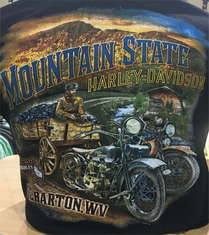mountain state harley davidson motor clothes department tshirts