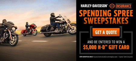 Harley-Davidson Insurance Spending Spree Sweepstakes