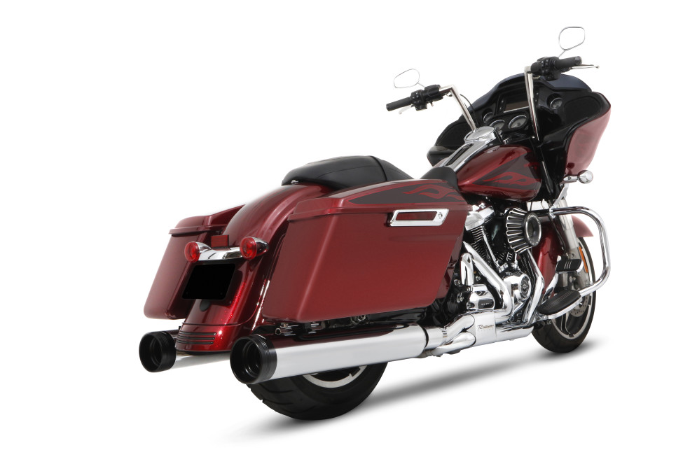 Red Harley-Davidson Road Glide With DBX45 Slip On Pipes