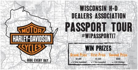 2019 WISCONSIN H-D DEALERS ASSOCIATION PASSPORT TOUR