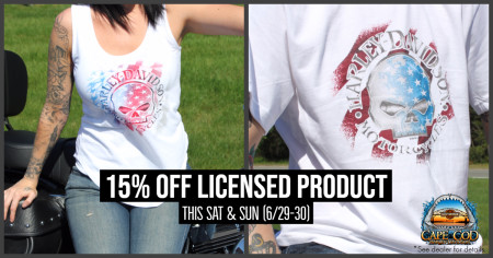 15% off Licensed Product