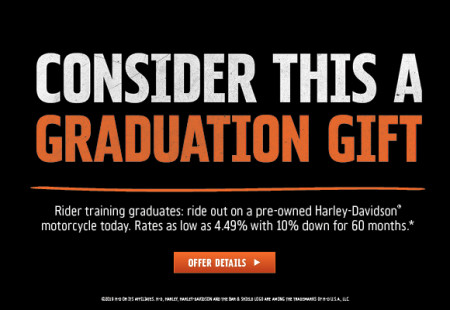 Rider Training Graduates Finance Offer on PRE-OWNED Motorcycles
