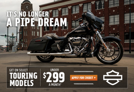 GET ON SELECT TOURING MODELS