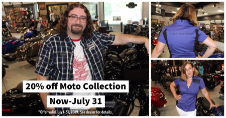 20% off Moto Collection