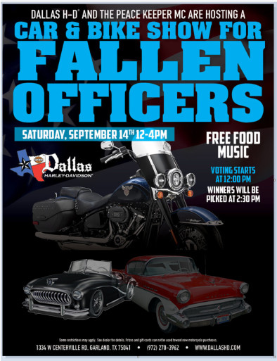 CAR AND BIKE SHOW BENEFIT FOR FALLEN OFFICERS