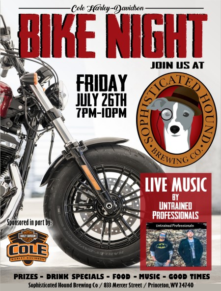 BIKE NIGHT @ Sophisticated Hound Brewing Co