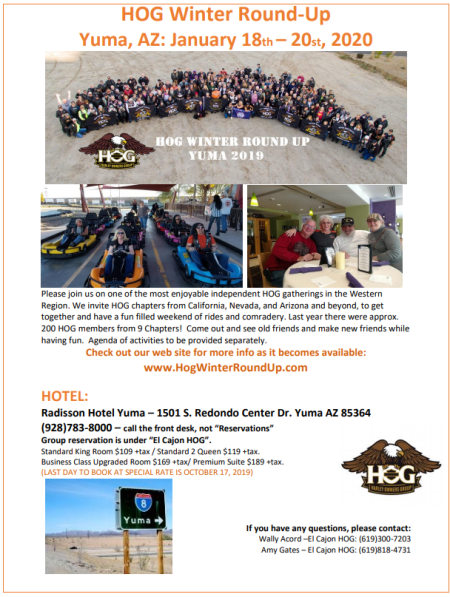 YUMA 2020 - HOG Winter Round Up
