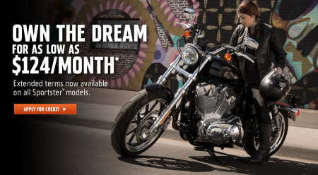 84-Month Financing on Sportsters
