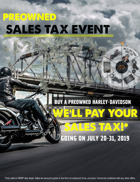 PREOWNED SALES TAX EVENT!