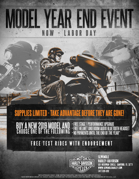 2019 Model Year End Event