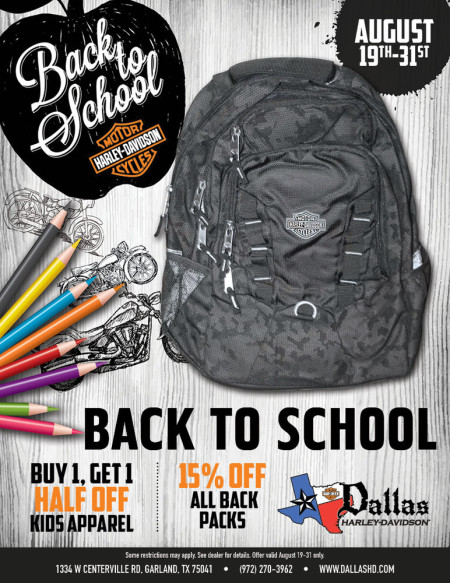 Back to School Motorclothes Special