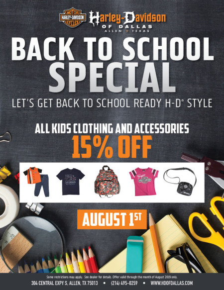 Motorclothes Back to School Special
