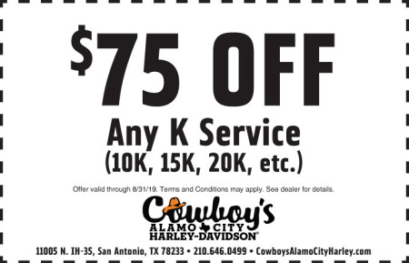 August Service Coupon - $75 off Any K Service