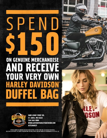 Spend $150 and Get a FREE Duffelbag