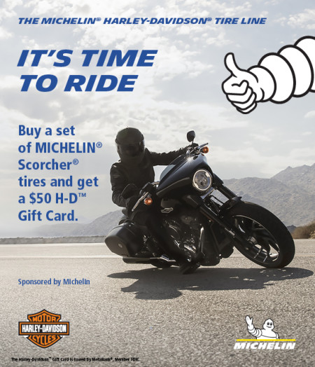 $50 back on Michelin Scorcher motorcycle tires