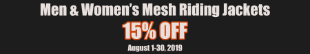 15% OFF  MESH RIDING JACKETS