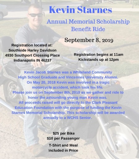 Kevin Starnes Annual Memorial Scholarship Benefit Ride Starts Here