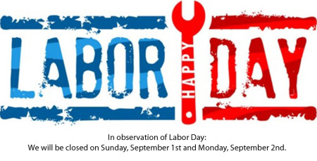 STORE CLOSED for Labor Day
