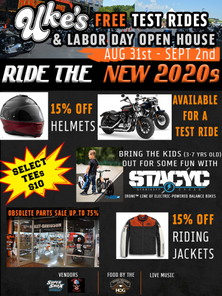Labor Day Open House & Test Ride the 2020s