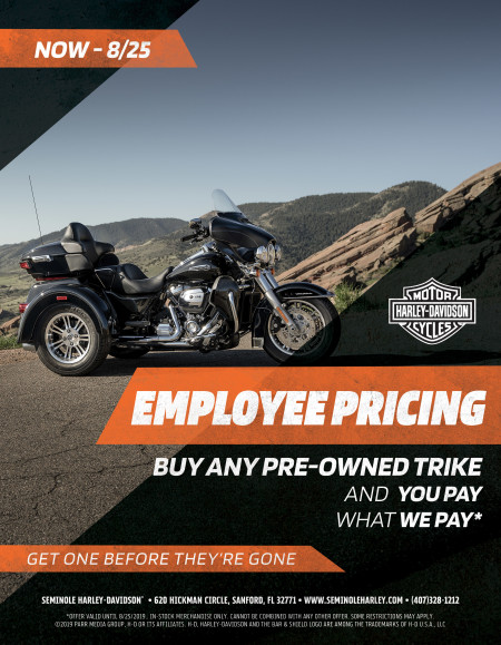 Employee Pricing on Pre-Owned Trikes