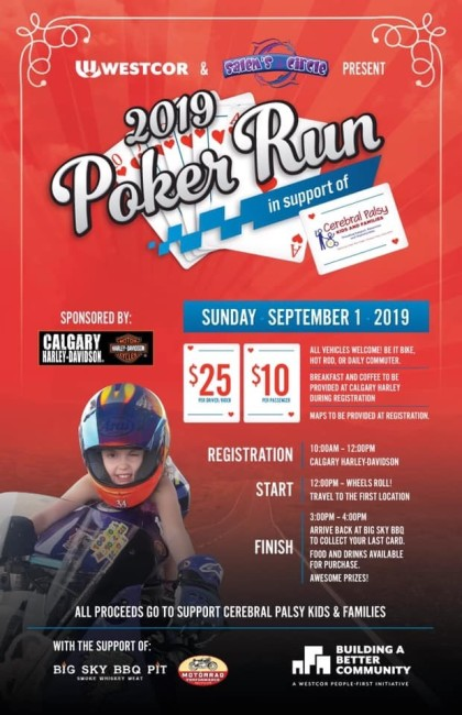 Westcor and Salem's Circle Poker run in support of Cerebral Palsy foundation