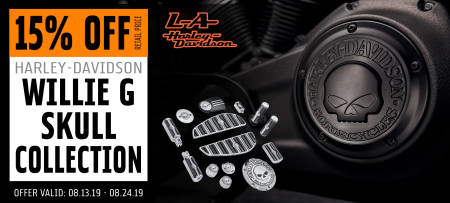 15% Off H-D Willie G Skull Collection