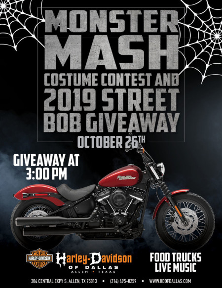 Monster Mash Costume Contest and Street Bob Giveaway
