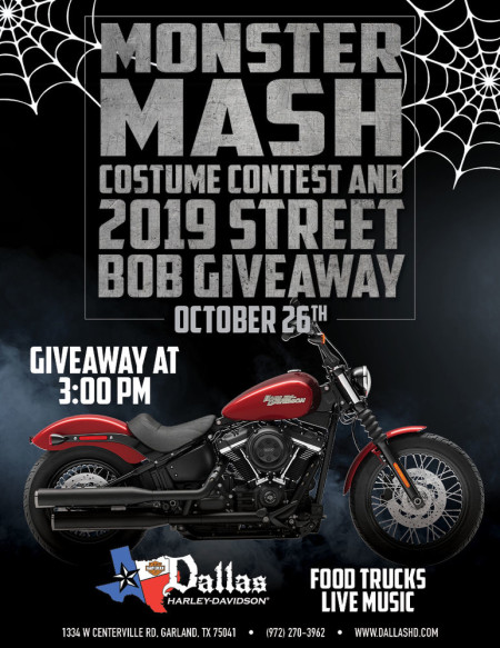 Costume Contest and STREET BOB GIVEAWAY