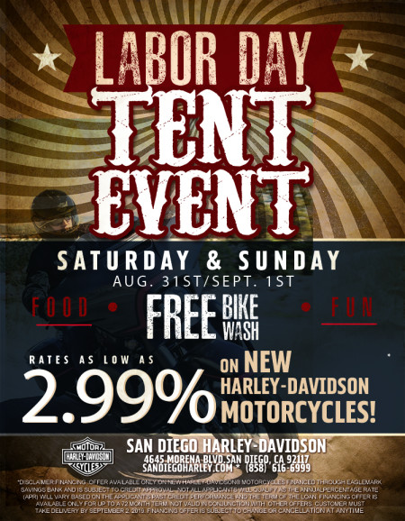 Labor Day Tent Event Weekend!