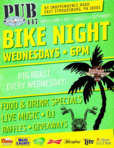Bike Nigh at Pub 447